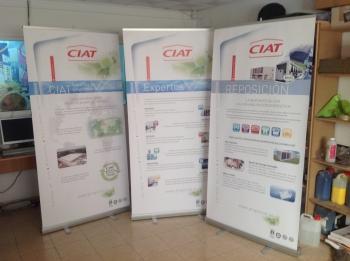 Impresión lona para displays
